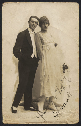 Image: Frank Perkins (left) and female impersonator Stanley Lawson
