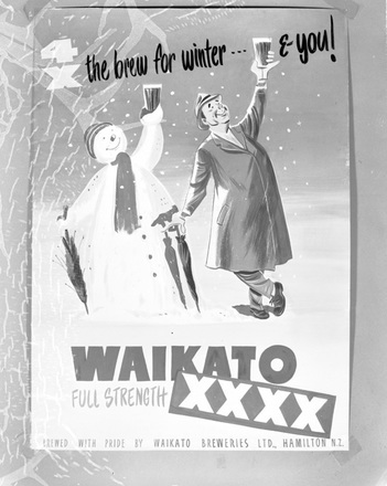 Image: [Art-work for poster for Waikato beer]