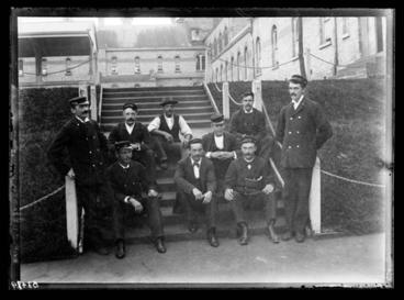 Image: [Group of male attendants/guards, Avondale Lunatic Asylum]