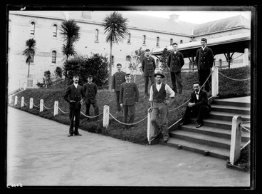 Image: [Group portrait of male attendants , Avondale Lunatic Asylum]