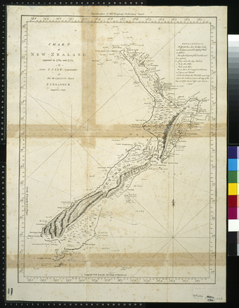Image: Chart of New Zealand explored in 1769 and 1770