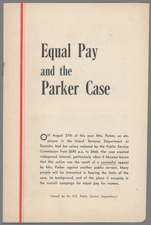 Image: Equal Pay and the Parker Case