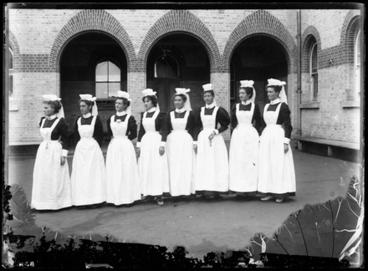 Image: [Eight female assistants courtyard - Avondale Lunatic Asylum]
