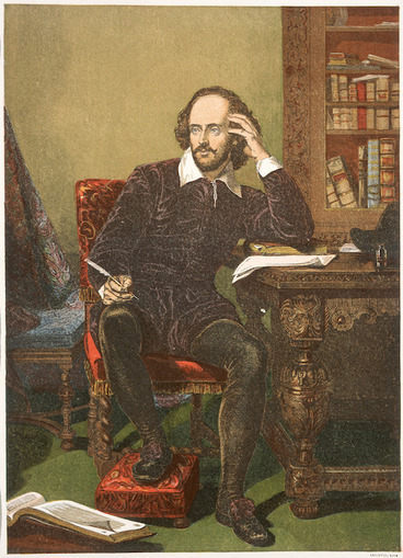 Image: [Taylor, John] :Shakspeare. [Engraved from the original painting, the Chandos Shakspeare by John Taylor or Richard Burbage. London?] Leighton Brothers, [ca 1880?]