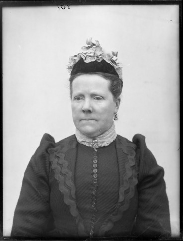 Image: Studio portrait of unidentified woman, possibly Christchurch district