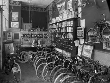 Image: Interior of a cycle shop, Christchurch