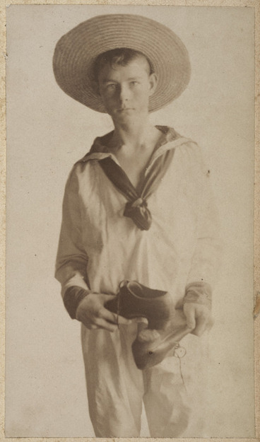 Image: Boy dressed as a sailor