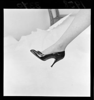 Image: Women's stiletto heel by Edward Rayne for Evening Post fashion supplement