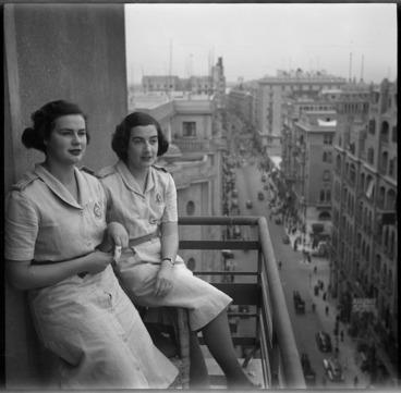Image: Two members of Women's War Service Auxiliary in Egypt, World War II