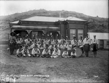 Image: Fife and drum band at Parihaka Pa