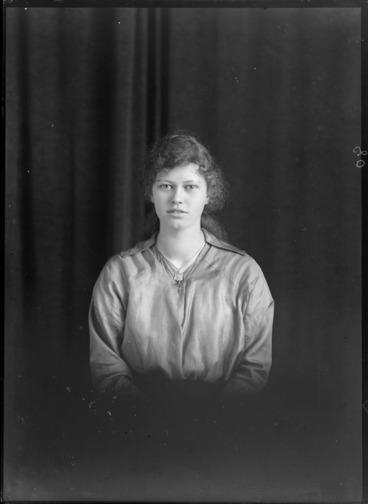 Image: Studio portrait of an unidentified woman, probably Christchurch region