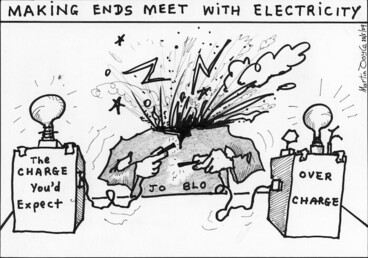 Image: Making ends meet with electricity. 22 May 2009