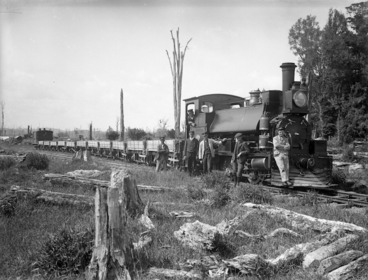 Image: Public Works train at the Skinner Road ballast pit, near Stratford