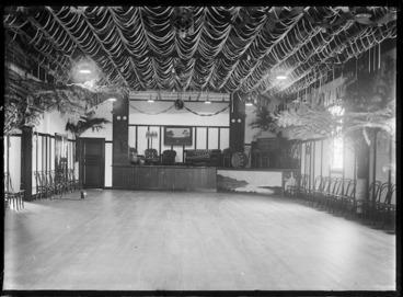 Image: Inside the Petone railway workshop social hall