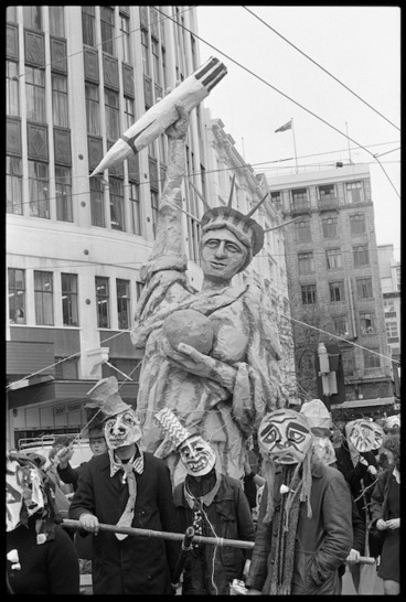 Image: Protest march against visit of USS Texas, Wellington, New Zealand - Photograph taken by Stuart Ramson