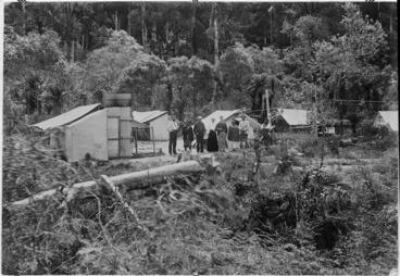 Image: Road inspectors camp at Te Whaiti