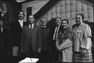 Image: Maori Language Commission with Koro Wetere