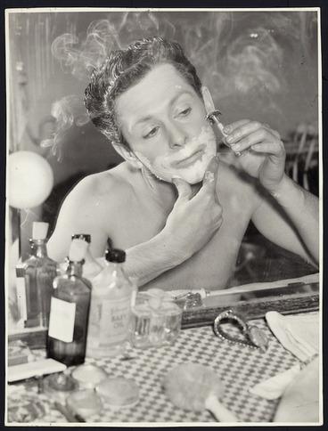 Image: John Hunter shaving