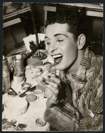 Image: John Hunter painting his lips, Empire Theatre, Sydney, Australia