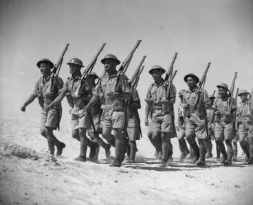 Image: Maori Battalion training at Maadi, Egypt