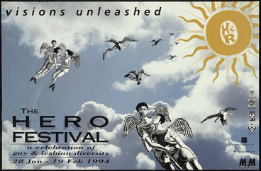 Image: Visions unleashed; the Hero Festival; a celebration of gay & lesbian diversity. 28 Jan - 19 Feb 1994.