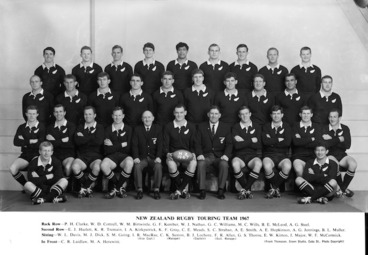 Image: New Zealand rugby touring team (All Blacks) 1967