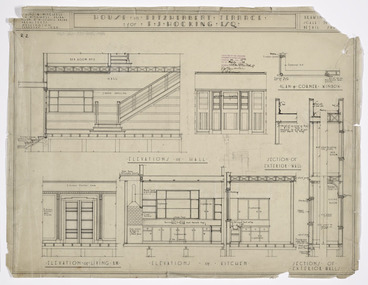 Image: Atkins & Mitchell (Firm) :House in Fitzherbert Terrace for E J Hocking, Esq. February 1935. Drawing [No. 2]