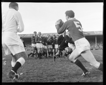 Image: New Zealand All-Blacks vs British and Irish Lions second rugby test match, at Athletic Park, Berhampore, Wellington