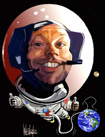 Image: Webb, Murray, 1947- :[Neil Armstrong]. 28 August 2012