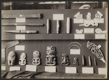 Image: Maori artifacts in the Auckland Museum