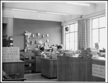Image: Interior view of the School Library Service, Auckland