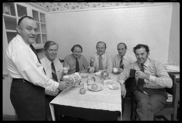 Image: Robert Muldoon and others, at breakfast