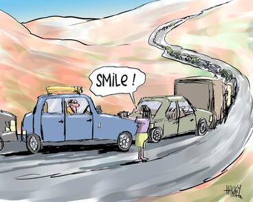 """Image: """"Smile!"""" 30 December 2009"""