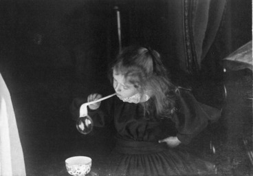 Image: Phyllis Fell blowing bubbles
