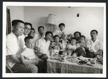Image: Rewi Alley with his Chinese family