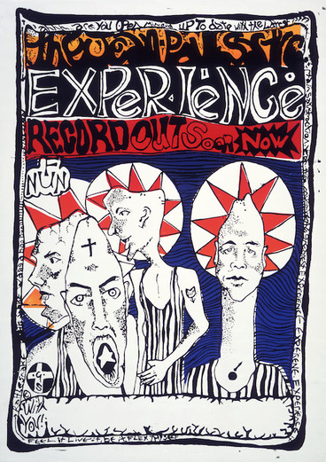 Image: Jean-Paul Sartre Experience (Musical group) :The Jean-Paul Sartre Experience. Record out soon now. Feel it, live it, be it, flex thyself [1986].