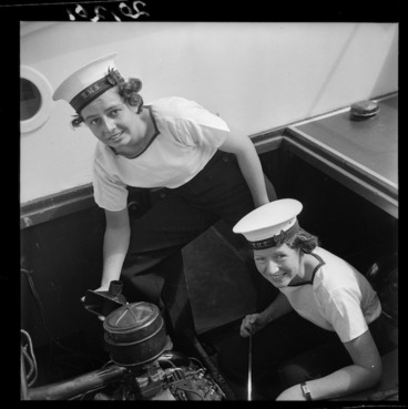 Image: Members of the Women's Royal New Zealand Naval Service, Auckland, New Zealand