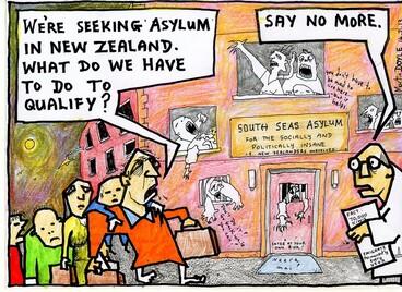 Image: Doyle, Martin, 1956- :[Qualifying for asylym] 15 February 2013