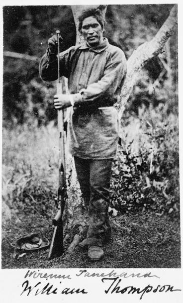 Image: Wiremu Tamihana Tarapipipi Te Waharoa with a double barreled shot-gun