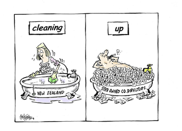 Image: Hubbard, James, 1949- :cleaning. up. 16 April 2013