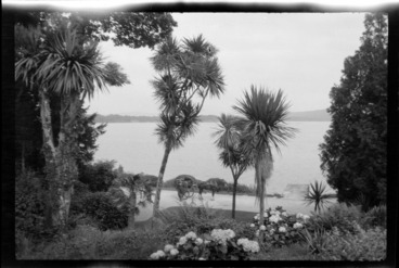 Image: View of Dinis Cottage garden and Lake Muckross, Killarney, County Kerry, Ireland