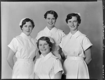 Image: Nurses, Wellington Hospital, 1955
