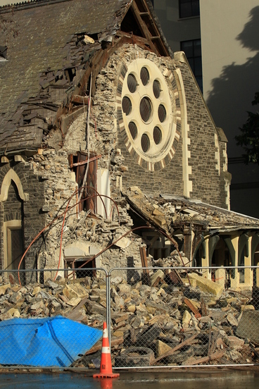 Image: Effects of the Canterbury earthquakes of 2010 and 2011 inside the CBD red zone, 7 July 2011