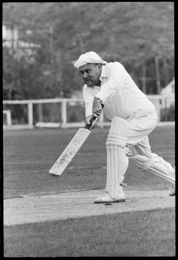 Image: Robert Muldoon playing cricket