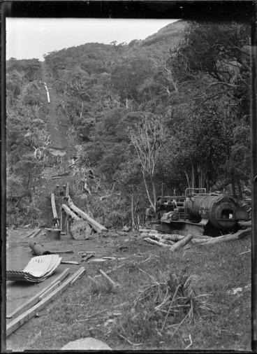 Image: Wekatahi Incline, used for logging near Piha.