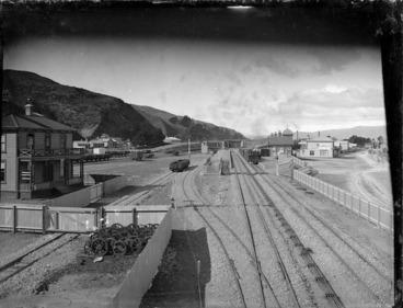 Image: Petone Railway Station and railway yards