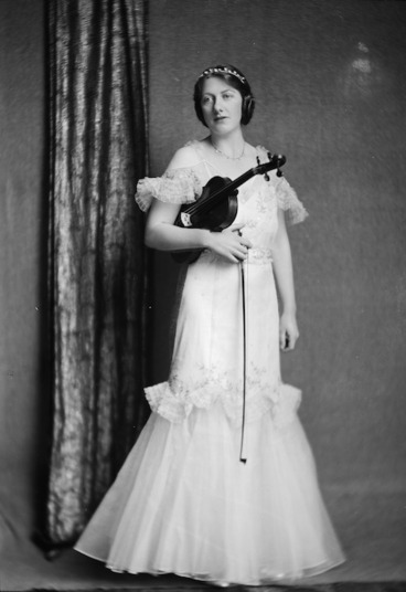 Image: Zillah Vivian Castle with violin