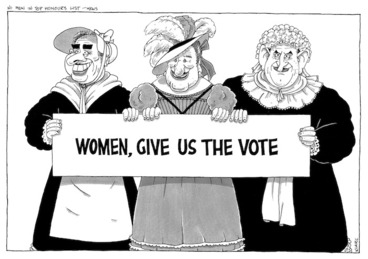 Image: Clark, Laurence 1949- :Women, give us the vote. 15 June 1993.