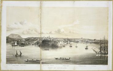 Image: Hogan, Patrick Joseph 1804-1878 :View of Auckland / P J Hogan del ; Ford & West imp. [London ; Smith, Elder & Co., 1853]