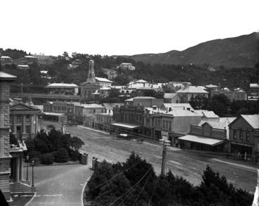 Image: Lambton Quay and surrounding area, Wellington